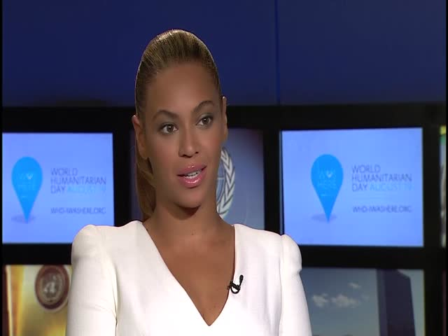 World Humanitarian Day Interview with Valerie Amos and Beyonce