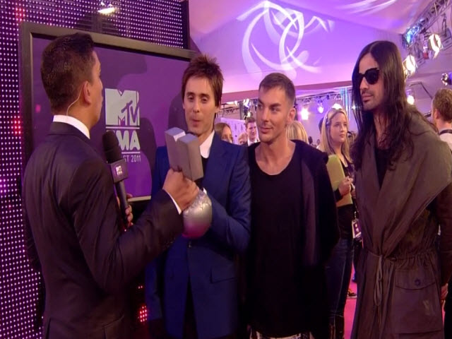 2011 EMA - Red Carpet | Part 16 | Interview w/ 30 Seconds to Mars