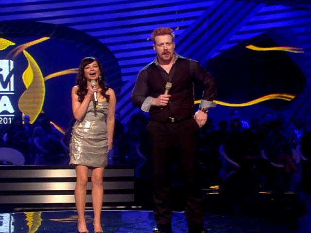 2011 EMA - Main Show | Part 35 | Ashley Rickards and Sheamus Introduce Best Male