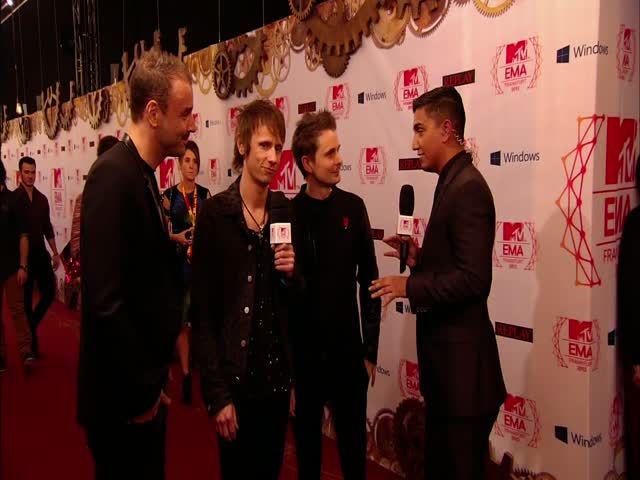 2012 MTV EMA: Red Carpet Interviews - Muse